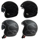 MT Le Mans Open Face Motorcycle Bike Scooter Flames Helmet Scooter Lid New