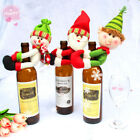 Christmas Santa Claus Snowman Champagne Held Red Wine Bottle Cover Bar Decor