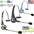 Over The Head Bluetooth Wireless Trucker Headset with Boom Mic For PS3 iPhone PC