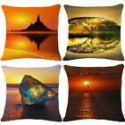 18'' Fashion Sunset Cotton Linen Pillow Case Sofa Cushion Cover Home Decor