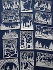 Packs of White Mixed Christmas Scene themed die cuts white