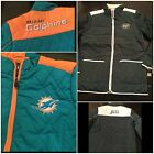 NFL Quilted Miami Dolphins Jacket New York Jets Coat Womens Size M,  L,  XL