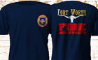 New RARE FORT WORTH Texas Fire Department FIREFIGHTER Firearm Navy T-Shirt S-4XL image