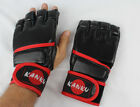 Kanku MMA Black Striking Sparring Grappling Gloves without thumb Muay Thai Train