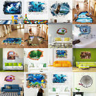 Lots 3D Pattern Floor Removable Art PVC Wall Stickers Decal Mural Decor Room DIY