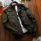 MENS US ARMY WORK BOMBER JACKET OUTERWEAR 100% COTTON MILITARY BASEBALL COAT