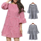 Ladies Women Striped Maternity Pregnant Tunic Top Casual V Neck Dress Clothing L