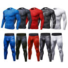 Men's Workout Base Layer Compression Set Running Training Sport suit Dri fit