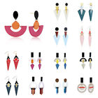 Fashion Women Ladies Acrylic Hip Hop Exaggerate Simple Geometric Dangle Earrings