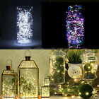 30/40/50/100 DEL String Copper Wire Fairy Lights Battery Powed Xmas Party Decor