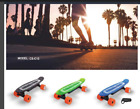 LED Electric Skateboard with Remote control with Battery