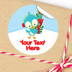 1x A4 Sheet Personalised Christmas gifts presents Stickers Labels bird gifts