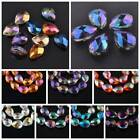 Genuine Pear Shape Crystal Teardrop Faceted Pendants Beads All Colors & Sizes