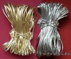 """Gold & Silver Stretch Elastic Cord Loops Gift Wrap Ties Jewelry Boxes 8""""-16""""-22"""""""