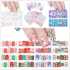Nail Art Water Decals Christmas Sknowflakes Marble Butterfly Transfer Stickers