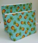 Funky Pineapple Fabric Make Up Bag / Wash Bag / Storage Pouch 2 Sizes Available