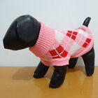 Pet Clothes Dog Cat Puppy Clothes Knitted Jumper Sweater Coat Argyle XS S M L XL