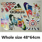 LOTS MIX NIKE adidas PUMA LOGO STICKERS IRON ON HEAT TRANSFER PATCHES FOR CLOTH