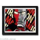 IRON MAN AVENGERS MOVIE POSTER FRAMED WALL ART PRINT PICTURE S M LARGE