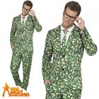 Mens Brussel Sprout Stand Out Suit Adult Christmas Funny Fancy Dress Outfit