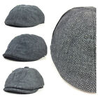 Schiebermütze HERRINGBONE Gatsby Cap Newsboy Swing Eight Piece Flatcap