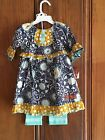 Millie Jay Blue Print 2pc Outfit 12mos,18mos,24mos,4,5,6,6X,7,10
