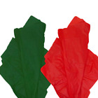 """Внешний вид - Christmas TISSUE PAPER 20X30"""" solid RED/GREEN tissue paper gift wrap supply"""