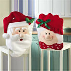 Christmas Chair Covers Flannel Santa Claus Covers Party Holiday Home Decorations