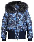 Lisa-Rella Girls' Down Floral Bomber, Sizes 6-16