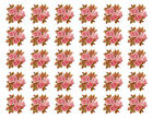 Vintage Image Autumn Fall Leaves Acorns Pink Roses Waterslide Decals FL506
