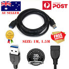 New USB 3.0 SuperSpeed Extension Cable Insulation Protected Male to Female au