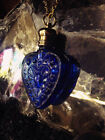 PETRA natural long lasting PERFUME OIL in a Heart Bottle Pendant Necklace Amulet