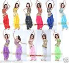 Brand New Sexy Belly Dance Costume Sets Top & Pants 11 Colors Free Shipping #876