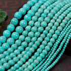 Light Blue Turquois Natural Stone Gemstone Round Spacer Loose Beads 4-12MM