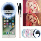 Selfie Full Fill Light LED Flash Clip Ring Light Fr iPhone X 8/plus Samsung S7/8