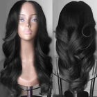 Women's Long Middle Part Colormix Wavy Synthetic Wigs Capless Full Wigs