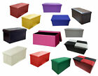 FAUX LEATHER OTTOMAN POUFFE STORAGE TOY BOX FOOT STOOL 1&2 SEATER BENCH SEAT