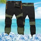 USA Outdoor Hiking Mens Warm Thin Trousers Windproof Waterproof Trekking Pants