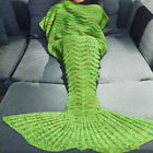 Clearance  Mermaid Tail Blanket Crochet Soft Knitted Sleeping Bag Adult & Keds