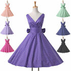 Clerance Polka Dot 50'S Vintage DRESS Retro Swing Pinup Evening Party Prom Dress