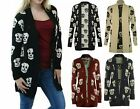 Womens Ladies Winter Baggy Waterfall Aztec Print Knitted Open Front Cardigan Top