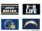 NEW! Los Angeles Chargers Flag 3ft x 5ft Mancave Outdoor Tailgate 20+Styles Gift $12.94 USD