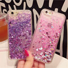 Luxury Glitter Hearts Liquid Back Phone Case Cover for Apple iphone 6 plus 7 New