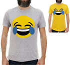 EMOJI LAUGHING TEARS / Mens, Yellow, Grey T-Shirt