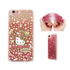 Hello Kitty Cat Liquid Quicksand Soft Silicone Case For iPhone Samsung LG F13017