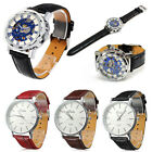 Casual Mens Women Quartz Analog Watches Gold Stainless Steel Leather Wrist Watch
