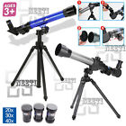 BLUE GREY ASTRONOMICAL TELESCOPE W/D TRIPOD STARGAZING EDUCATIONAL KIDS TOY GIFT