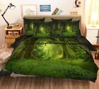 3D Thick Forest Bed Pillowcases Quilt Duvet Cover Set Single Queen King Size AU