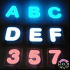 GLOWING LETTERS £3 each 4cm x 4cm Thin EL Tape Panels In Shape Of Alphabet led