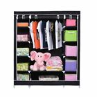 Portable Clothes Rack Storage Wardrobe With Shoe Rack Shelves Home Organizer